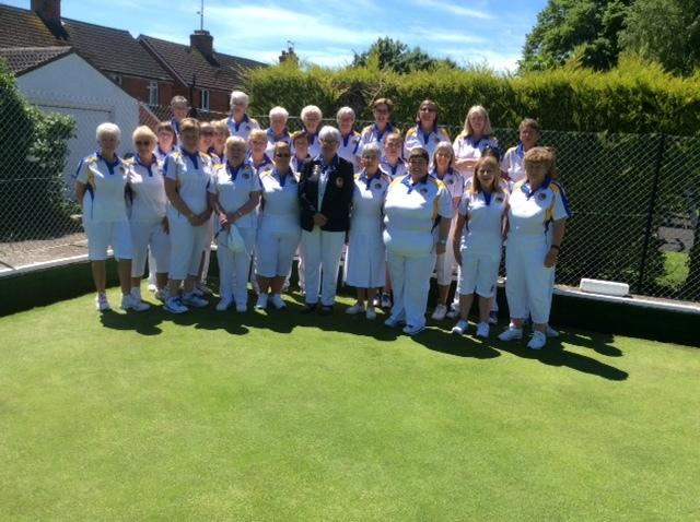 The victorious Wiltshire ladies team who beat Dorset in the inter-county Johns Trophy