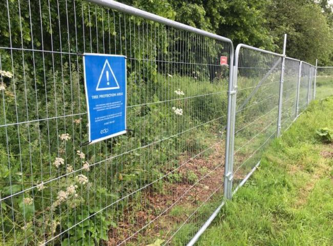 Tree Protection Area signs are up at Quakers Walk, Devizes