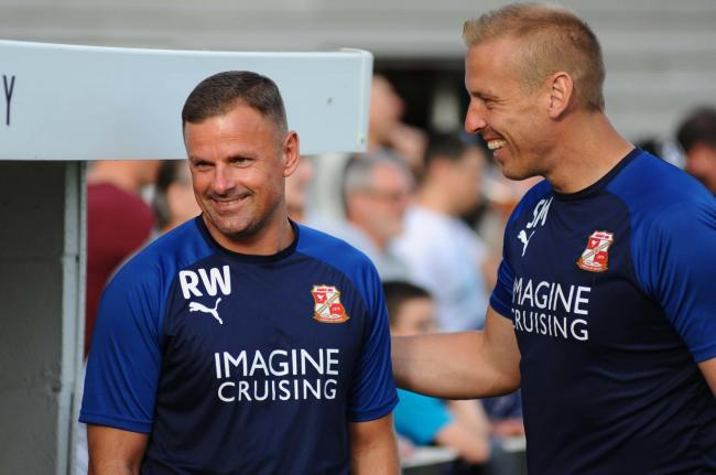 Supermarine v STFC       Pic Dave Evans    5/7/2019.Richie Wellens with goalkeeping coach Steve Mildenhall..