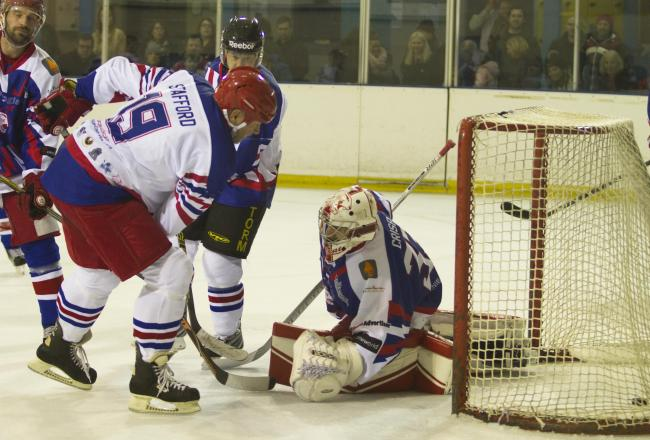 Netminder Michael Crisp will be back on the Swindon Wildcats roster next season