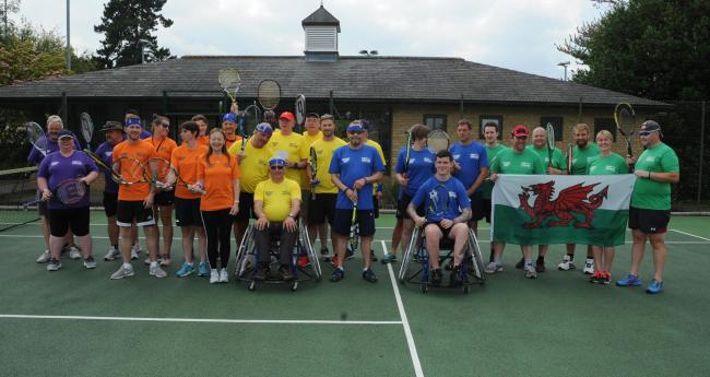 Help for Heroes members at Pewsey Tennis Club for the Tennis Tournament