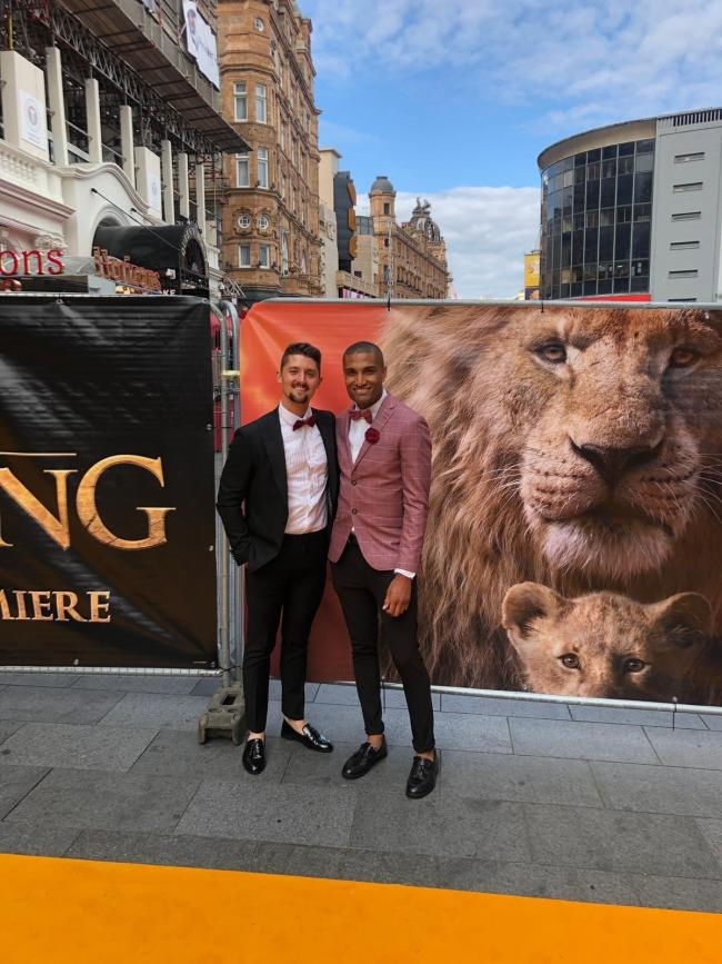 Richie Anderson, right, at The Lion King