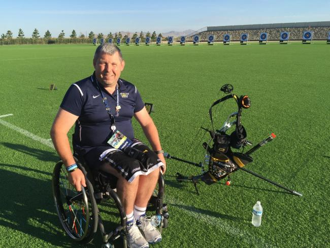 Andy Philips won gold at the inagural Invictus Games, in 2014