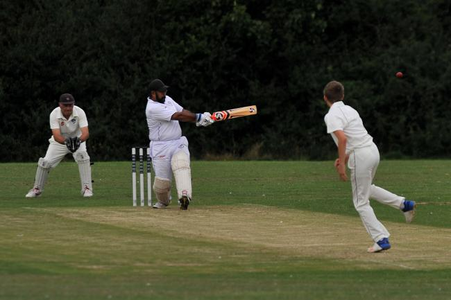 Cricket, Nalgo v Biddestone, pictured at Nalgo cricket ground..Pic - Nalgo - batsman.Date 5/8/19.Pic by Dave Cox.