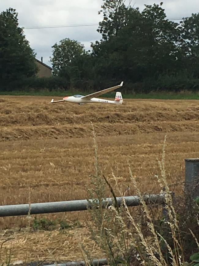 The glider near Royal Wootton Bassett Picture: ROYAL WOTTON BASSETT POLICE / FACEBOOK