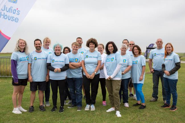 Twenty-two skydivers took part in the Julia's House Big Jump to raise funds for the hospice