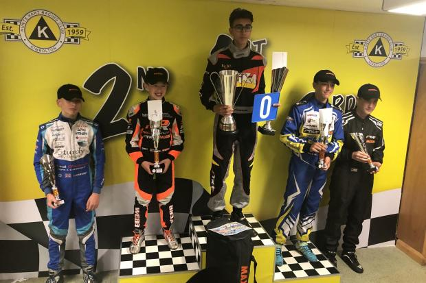 Louis Harvey had another successful weekend at the Kimbolton Kart track in East Anglia