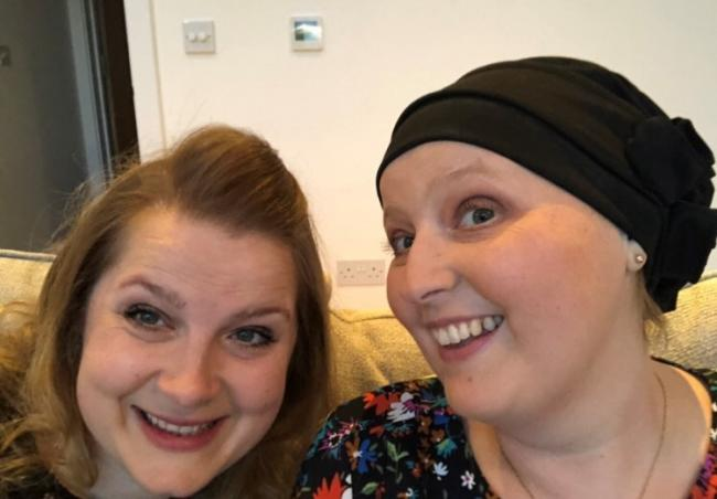 Theresa Adams (left) was key in raising over £15,000 for Cancer Research UK, in memory of her sister Celia Fernandez (right)