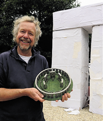 Julian Richards with the model Stonehenge