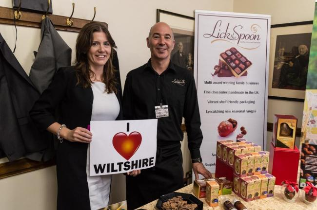 Lick the Spoon co-founder Matthew Short with Michelle Donelan in 2016