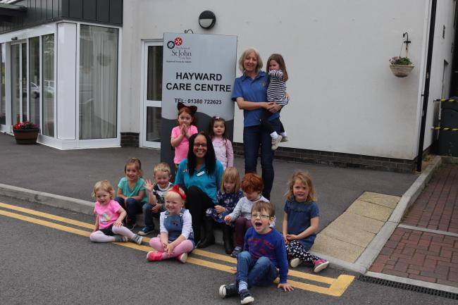 Childen from All Cannings visit Hayward care home, Devizes