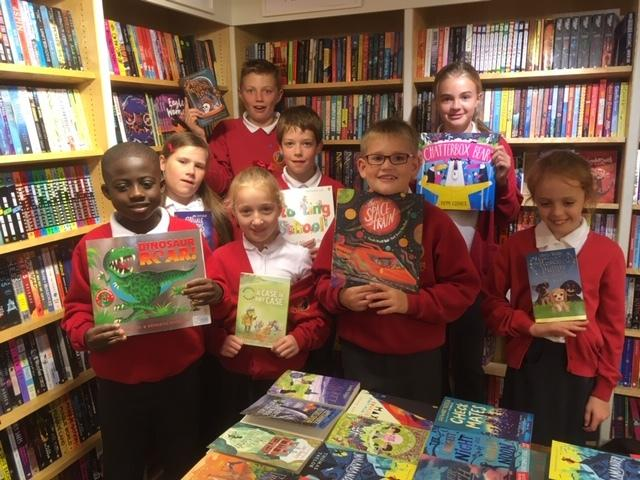 These children from Marlborough St Mary's were thrilled to pick up some books for their library