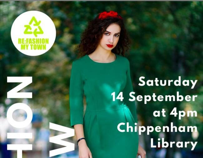 Recycled fashion show at Chippenham library