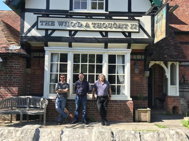 Chris Vardon (left), Alex Vardon (centre), and Ian Vardon who have recently taken over the Lockeridge pub