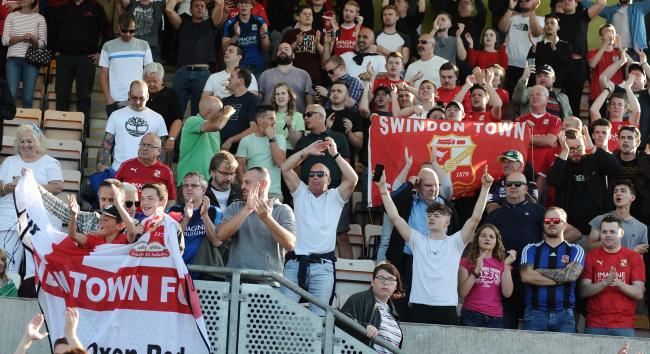 Cambridge v STFC        Pic Dave Evans       21/09/2019.Fans in victorious mood.