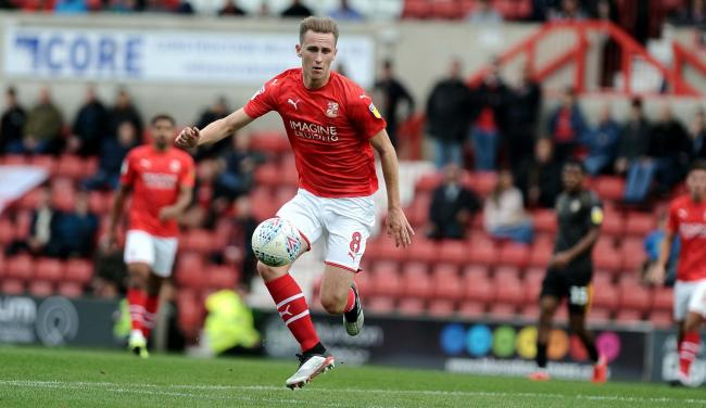 Adam May has made just 12 appearances in EFL competitions for Swindon Town this season - and only one since October 8
