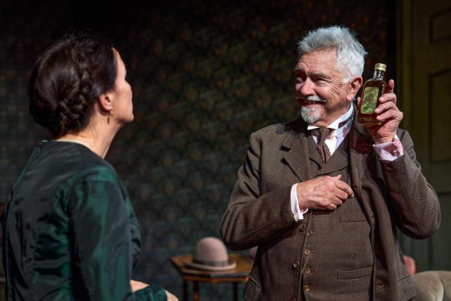 Gaslight - Charlotte Emmerson (Bella Manningham) and Martin Shaw (Detective Rough) Photo: Paul Coltas