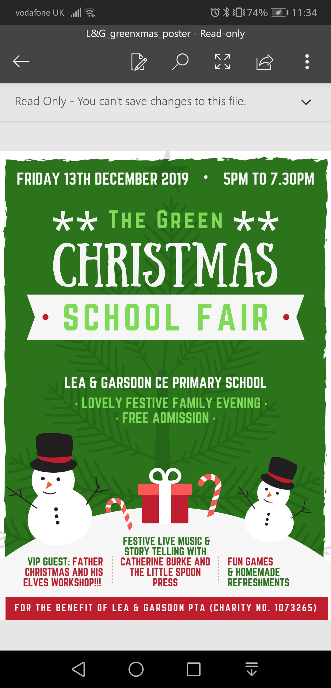 The Green Christmas School Fayre
