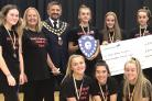 Royal Wootton Bassett's Challenge champions with the Mayor