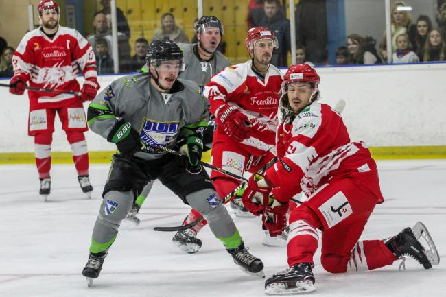 Defenceman Sam Godfrey has been in fine form for the Swindon Wildcats this season.     PIC: Kat Meadowcroft