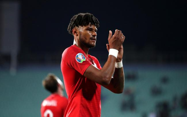 England's Tyrone Mings applauds fans after the final whistle during the UEFA Euro 2020 Qualifying match at the Vasil Levski National Stadium, Sofia, Bulgaria.