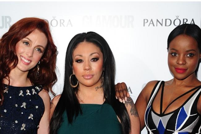The original Sugababes alongside the second line-up