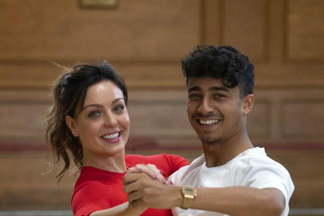 Strictly Come Dancing contestant Karim Zeroual and his professional dance partner Amy Dowden