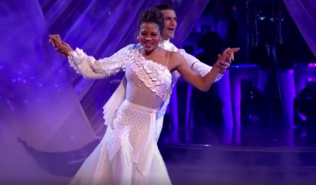 Emma and Alja? dancing the Viennese Waltz in last Saturday's Strictly Come Dancing Week 5