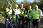 The Bowerhill Residents Action Group volunteers, left to right: Roy Gardener, Sheila May, Dave Sutton, Jenny Butcher, Graham Butcher