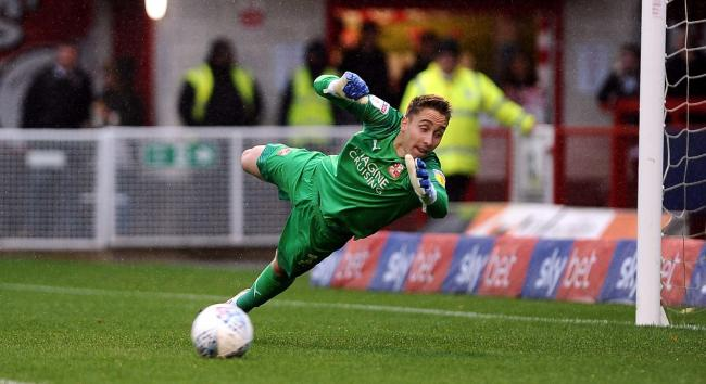 Swindon Town goalkeeper Steven Benda has kept seven clean sheets in 18 appearances since joining on a season-long loan from Swansea City				 Picture: Dave Evans