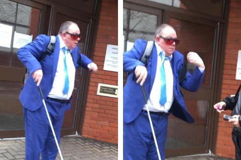 Clive Boon outside Swindon Crown Court