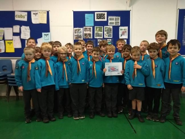 The Bradford on Avon Beavers who are launching their Christmas stamp and postal delivery service