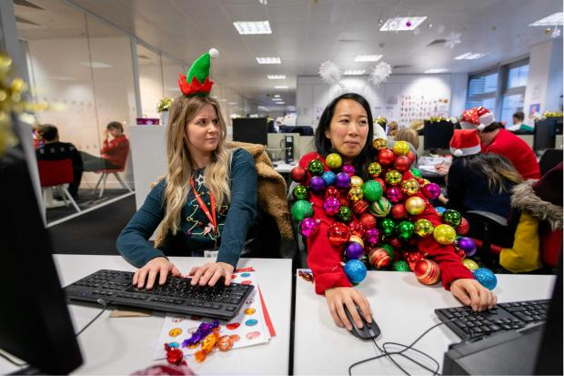 The Wiltshire Gazette and Herald: You could create your own seasonal sweater for Christmas Jumper Day. Pic credit: Save the Children
