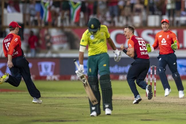 Tom Curran held his nerve at the death for England