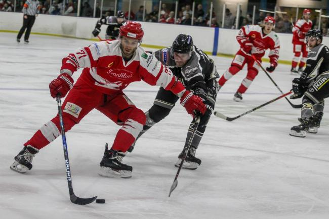 Edgars Bebris in action last time Swindon Wildcats faced Milton Keynes Lightning at the Link Centre 		       Picture: Kat Medcroft