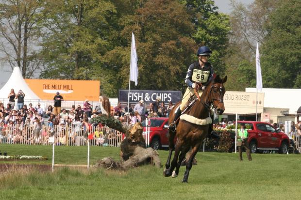 Lissa Green and Hollyfield during cross country at the 2018 Badminton Horse Trials. Picture: TIM CRISP