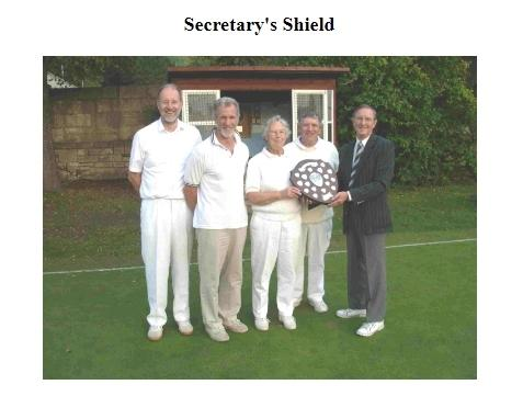 John Grimshaw, pictured when he led the club's team to victory in the Secretaryies Shield contest