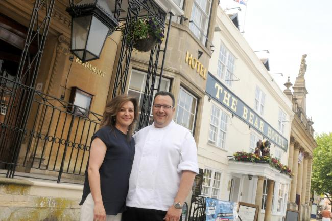Jacqui and Adrian Bartels are the new managers of The Bear, Devizes. Photo: Siobhan Boyle SMB2445/2.