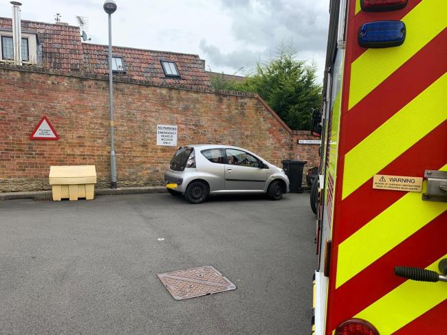 Malmesbury fire station warning over parking