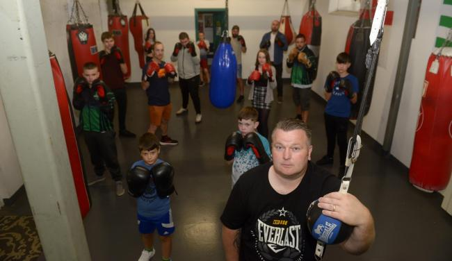 Emerald boxing gym under threat as they need a new premises to train.   Photo: Siobhan Boyle SBP2990/1 Pictured front is founder and head coach Liam Lathbury
