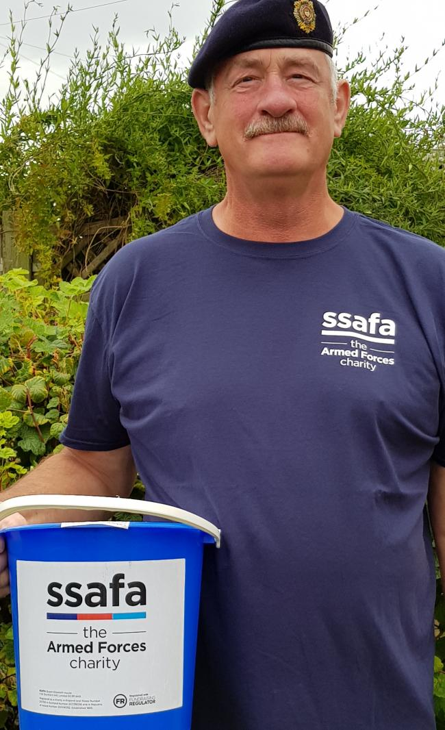 Wayne Cherry is raising money for armed forces charity SSAFA