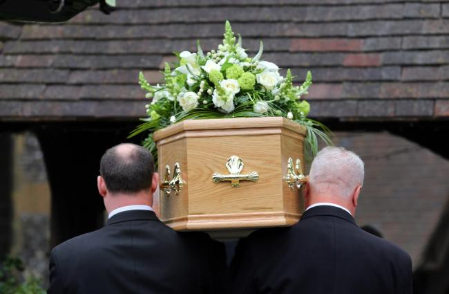 Undated file photo of a funeral taking place. England had the highest levels of excess mortality in Europe across the first half of 2020, according to new analysis by the Office for National Statistics (ONS).