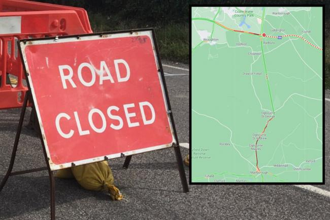 Roads closed on M4