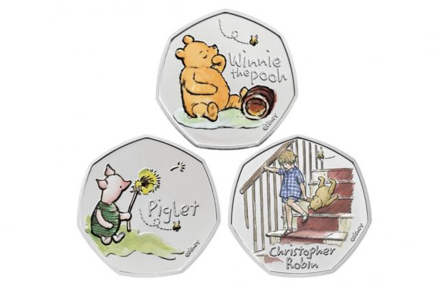Royal Mint and Disney create 'special edition' Winnie-the-Pooh 50p coin. Picture: The Royal Mint