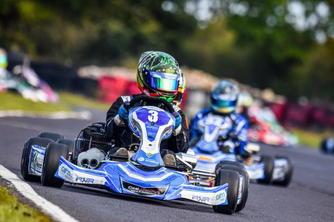 Louis Harvey in action at the Fulbeck Kart Club championship          Photo: Josh East