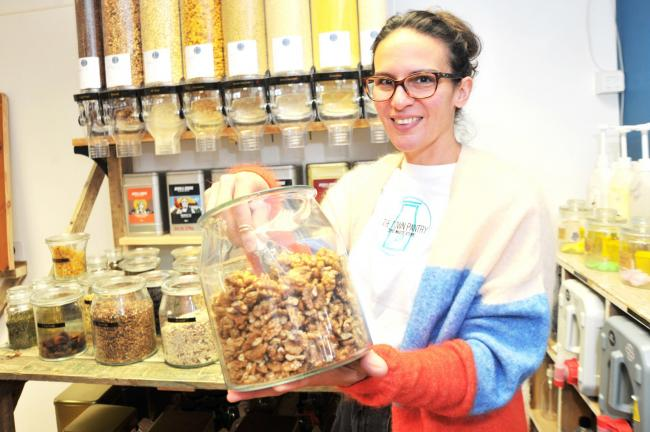 Jo Portsmouth owner of the new Zero waste shop opens in Royal Wootton Bassett