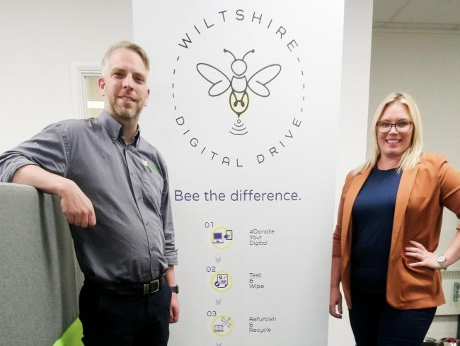 Wiltshire Digital Drive directors Kieran Thomas and Natalie Sherman