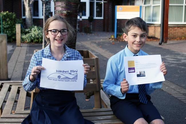 Pupils at St Margaret's find out about the work of school's chosen charity Wiltshire Mind