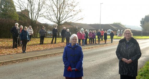 The Wiltshire Gazette and Herald: The villagers of Rowde oppose the closure. Photo taken before lockdown