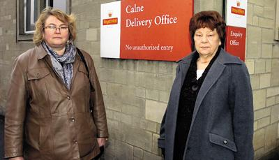 Councillors Amanda Venton, left, and Mercy Baggs outside the sorting office